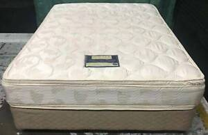 Excellent double-sided Pillow Top queen mattress with base