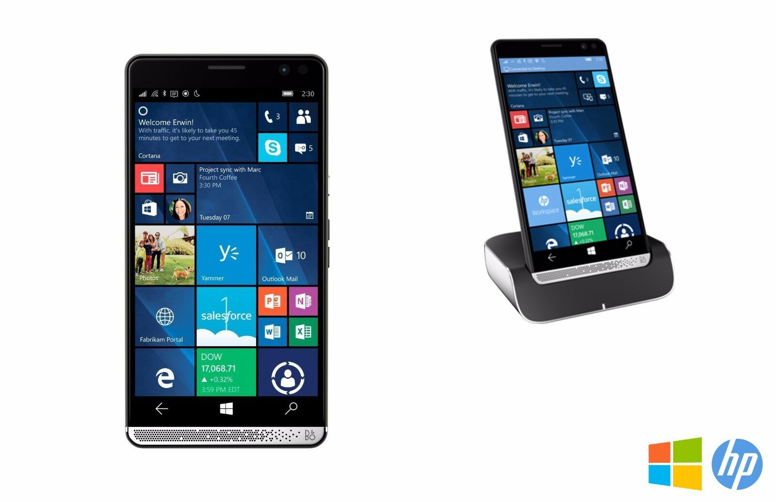 HP Elite X3 64GB Windows 10 Smartphone w/ Charging Desk Dock UNLOCKED - GRADE A