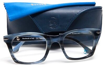 NEW BON VIVANT MAURICE / 7460 BLUE HORN EYEGLASSES GLASSES 51-22-145 B40mm Italy