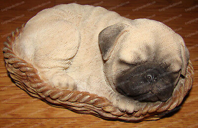 Pug Sleeping Wicker Basket (Pet Pals, 12034) Puppy, Dog Bed