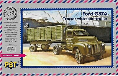 Ford G8TA Tractor with Semi-Trailer 1/72 Scale PST 72065 (free shipping)