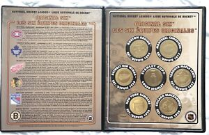 NHL original six 6 coin medallion collection Leafs Canadiens