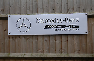 Mercedes AMG workshop Garage PVC Banner advertising Sign