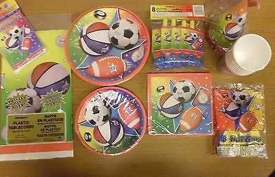 Super Sports happy Birthday Party Decorations, Party of 8 Party Pack - Sports Birthday