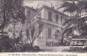 SAN-REMO-Villa-Jeanne-d-039-Arc-Pensionnat-des-Dames-de-Nancy-Coeur-St-Joseph