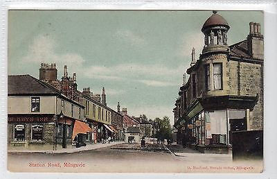STATION ROAD, MILNGAVIE: Dunbartonshire postcard (C14609)