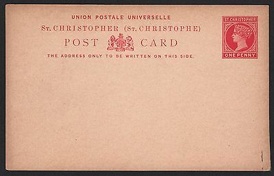 St. Christopher, H&G #3 mint one penny red on buff postal card