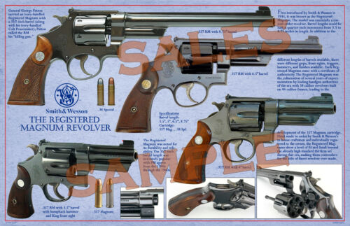 "S&W1935 Registered Magnum Revolver Poster 11 x 17"""