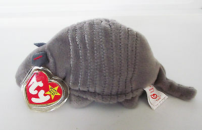 TY BEANIE BABY TANK ARMADILLO 6 ERRORS PVC 4TH GEN SWING 5TH TUSH + CANADIAN NEW for sale  Shipping to Canada