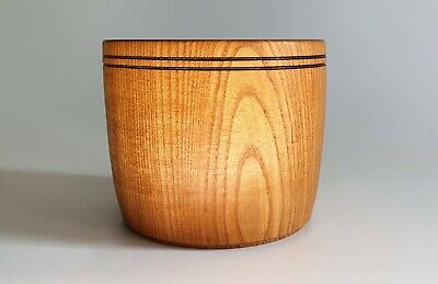 1950's beautiful turned open top wooden jar/bowl