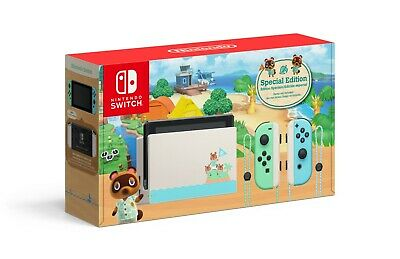 New Nintendo Switch Animal Crossing: Horizons Console Teal Special Edition 32GB