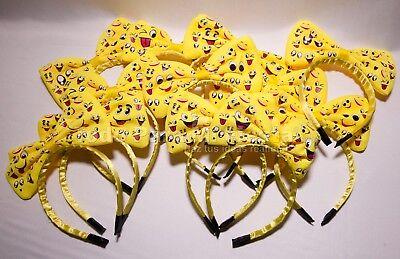 24 Emoji Headbands Emojis Bow Happy Face Emoji Love Party Favors Emoji Regalos