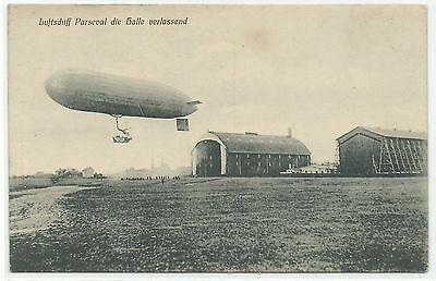 Zeppelin Parseval die Halle verlassend Bitterfeld um 1910