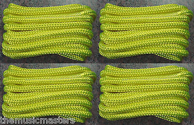4  Yellow Double Braided 3 8  X 20 Ft Boat Marine Hq Dock Lines Mooring Ropes