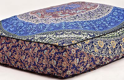 Indian Mandala Printed Dog Bed Cotton Ottoman Pets Bed Throw Bed Cover & Insert