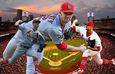 St. Louis Cardinals  Lithograph print of Jack Flaherty 2020   11 x 17 Louis Cardinals Lithograph