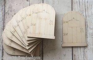set-of-10-laser-cut-wooden-fairy-faerie-elf-doors-unpainted-with-plaque