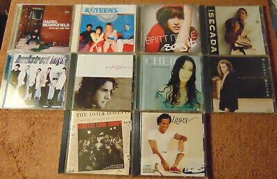 Lot of 10 Assorted ROCK / POP ROCK CDs - Cher  Michael Bolton  Jon Secada +