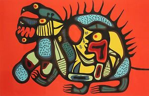 Native-Canadian-Norval-Morrisseau-Serigraph-034-Bear-Power-034-18-99-signed-in-pencil