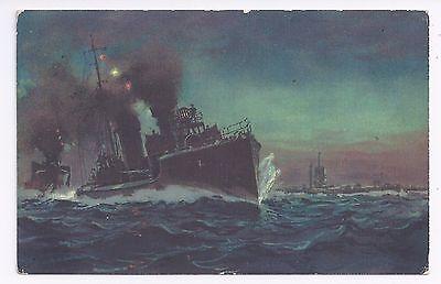 Torpedo- und Unterseeboote an die Front,  Postkarte / AK 1. Weltkrieg