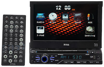 "Boss BV9965I Single Din 7"" In-Dash Monitor, DVD/CD AM/FM Receiver,USB,SD,iPod"