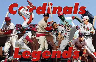 St. Louis Cardinals  Lithograph print of Cardinals Legends 11 x 17 Louis Cardinals Lithograph
