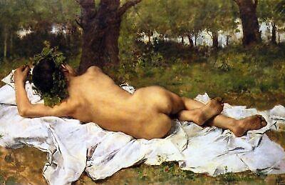 Bacchus Leinwand (Junges Bacchus von Joaquín Agrasot. Giclee Kunstdruck auf Leinwand oder Papier)