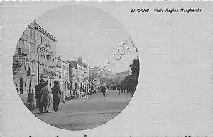 Cartolina-Postcard-Livorno-Viale-Regina-Margherita-anni-039-10
