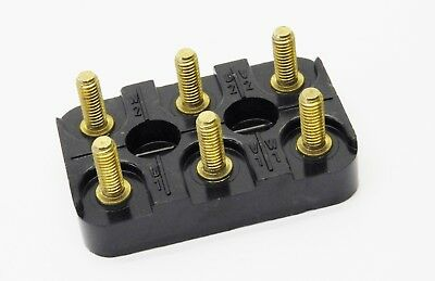 Fiame Electric Motor Terminal Connection Block 70mm X 45mm 3-pole 6-stud Brass