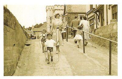 Nostalgia Postcard Saundersfoot , Pembrokeshire 1956 Reproduction Card NS57