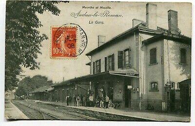 CPA - Carte Postale - France - Audun le Roman - La Gare - 1908 ( I10754)