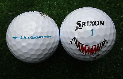 12 neuve Srixon UltiSoft Doux Blanc avec Requin Dents de requin