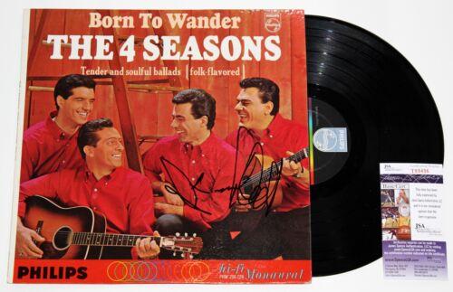 FRANKIE VALLI SIGNED 4 SEASONS BORN TO WANDER LP VINYL RECORD AUTOGRAPH +JSA COA