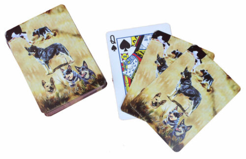 New Australian Cattle Dog Playing Cards Set Pokar Card by Ruth 5 Dogs ACD-PC