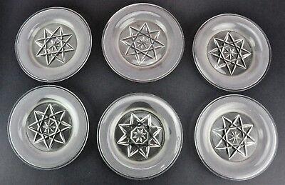Set of 6 Antique 1873 cut glass plates   with English registratio (BI#MK/181016)