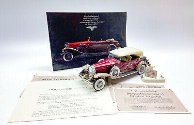 Franklin Mint 1/24 scale 1930 Duesenberg J Derham Tourster die cast model