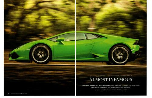 2015 LAMBORGHINI HURACAN LP 610-4 602 HP ~ ORIG 13-PAGE ROAD TEST / ARTICLE / AD