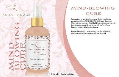 Keratin Cure Mind Blowing Blowdry Blowout Cream Anti Frizz Moisturize Hair 4 (Frizz Remedy)