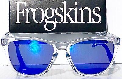 NEW* Oakley Frogskins Clear Crystal w POLARIZED Blue Galaxy Sunglass oo9013 (Oakley Frogskins Blue)