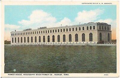Power House  Mississippi River Power Company  Keokuk Ia Postcard