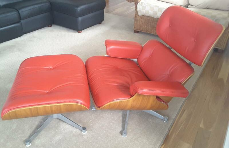 Leather Milan Reproduction Eames ChairArmchairs Gumtree Direct exodCB