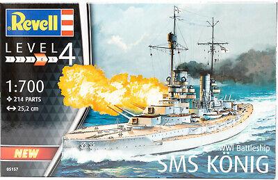 Revell 05157 Modellbausatz WWI Battleship SMS König Schiff Kriegsschiff 1:700NEU