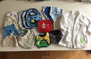 Baby Bibs, Bandanas, Hats and Robe size 0-9m