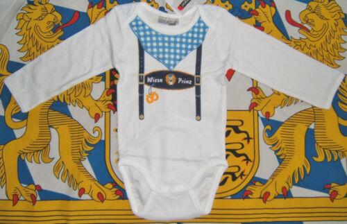 Long Sleeve Trachten Baby Body Oktoberfest Suspender Print EU 86 US 18-24M NEW
