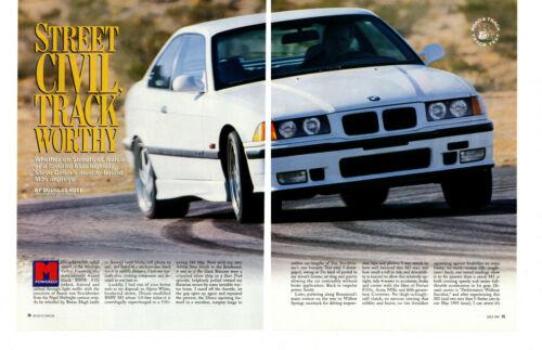 1997 BMW DINAN M3 ~ ORIGINAL 10-PAGE ROAD TEST / ARTICLE / AD