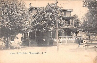 C 1905 Huffs Hotel Pleasantville Ny Post Card Westchester County