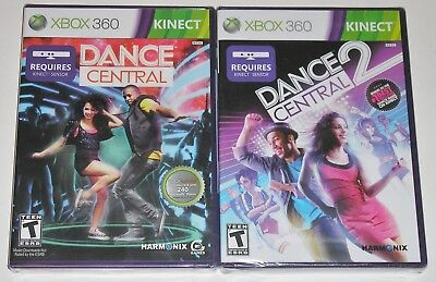 Xbox 360 KINECT Game Lot - Dance Central (New) Dance Central 2 (New) for sale  Shipping to India