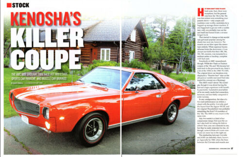 1969 AMC AMX 390/315 HP ~ NICE 6-PAGE ARTICLE / AD