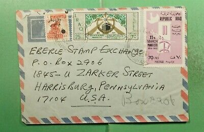 DR WHO  IRAQ BASRAH AIRMAIL TO USA OVPT  g13574