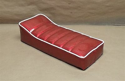 "16"" X 7"" ZODIAC RED WHITE GLITTER SEAT SCOOTER MINI BIKE HERTERS BIRD TACO MANCO"